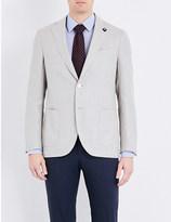 Lardini Tailored-fit linen-blend blazer