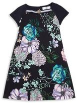 Versace Little Girl's & Girl's Floral-Print Jersey Dress