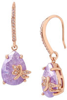 Betsey Johnson Fall Critters Dragon Fly Cz Drop Earring