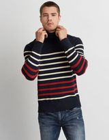 American Eagle Outfitters AE Stripe Turtleneck Sweater