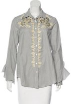 Suno Embroidered Striped Top w/ Tags