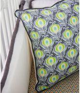 Caden Lane Peacock 4-Piece Crib Bumper in Grey/White