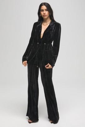 Good American Flare Velvet Pant | Black001