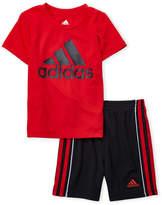 adidas Infant Boys) Two-Piece Logo Tee & Basketball Shorts Set