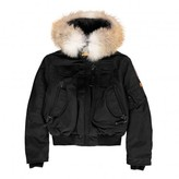 Parajumpers Faux Fur Hooded Gobi Boy Bomber Jacket
