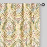 Cost Plus World Market Multicolor Ogee Concealed Tab Top Curtains, Set of 2