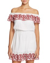 Pampelone Natalia Off-the-Shoulder Dress Swim Cover-Up