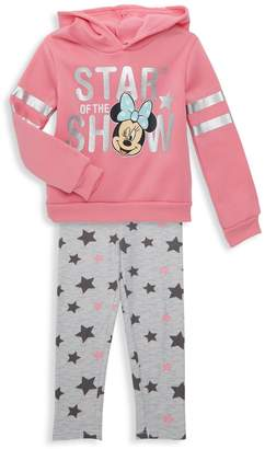 Disney Little Girl's 2-Piece Minnie Mouse Star Of The Show Hoodie & Pants Set