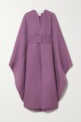 Valentino Belted Wool Cape - Purple