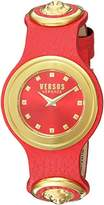 Versus By Versace Women's 'Carnaby Street' Quartz Stainless Steel and Leather Casual Watch, Color:Red (Model: SCG050016)