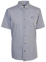 Pretty Green Short Sleeve Glendale Gingham Shirt, Navy