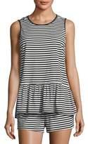 Kate Spade Striped Sleeveless Short Pajama Set