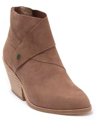 Eileen Fisher Tag Leather Block Heel Bootie