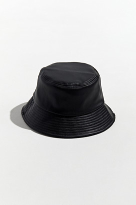 Urban Outfitters Faux Leather Bucket Hat