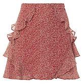 Derek Lam 10 Crosby Red Ruffle Mini Skirt