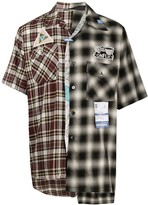 Puma Maison Yasuhiro check-print combined shirt
