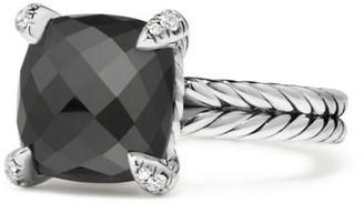 David Yurman Chatelaine Ring with Gemstone & Diamonds/11mm