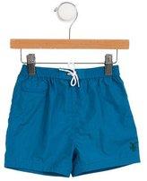 Burberry Boys' Logo Drawstring Swim Trunks w/ Tags