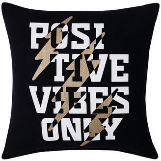 """Sean John Positive Vibes Only 18"""" Square Decorative Pillow Bedding"""