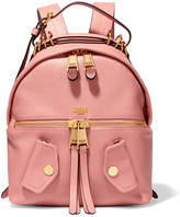 Moschino B-pocket Textured-leather Backpack - Baby pink