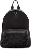 Versace Black Nylon Studded Backpack