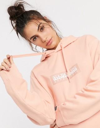 Napapijri Box hoodie in pink