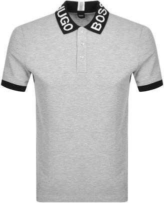 Boss Business BOSS Parlay Short Sleeved Polo T Shirt Grey