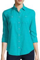 STYLUS Stylus Long-Sleeve Gauze Shirt