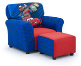 KidzWorld Disney's Cars 2 Kid's Club Chair and Ottoman Set