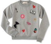 Kate Spade Infant girls' patched sweatshirt w/ leggings, size 12-24 months