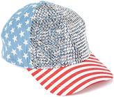 David & Young Blue Rhinestone Americana Baseball Hat