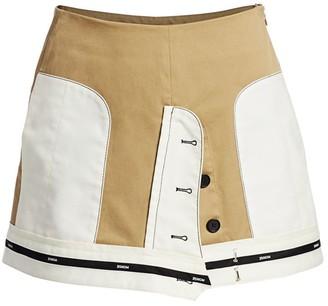Monse Inverted Twill Mini Skirt
