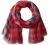 D&Y Women's Reversible Americana Plaid Scarf