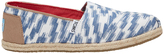Toms Alpargata (10009320) Rope Sole Blue Bali Tribal Sneaker