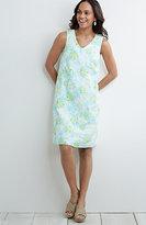 J. Jill Printed Linen V-Neck Tank Dress