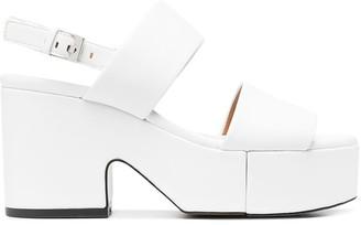 Clergerie Cora leather platform sandals