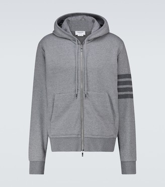 Thom Browne 4-Bar zipped hooded sweatshirt