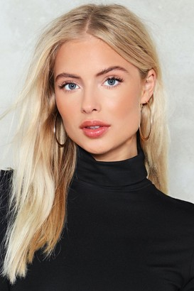 Nasty Gal Womens Flat Out Hoop Earrings - Gold