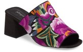 Jeffrey Campbell Women's Perpetua Embroidered Open-Toe Mule