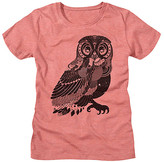 American Classics Women's Tee Shirts SUNSET - Sunset Heather Patterned Owl Fitted Tee - Women
