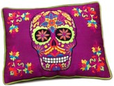 Karma Living Skull Cushion - 16 x 12 - Purple