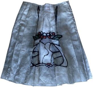 Marni Grey Silk Skirt for Women