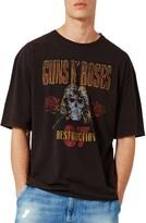 Topman Men's Guns N' Roses Oversize Graphic T-Shirt