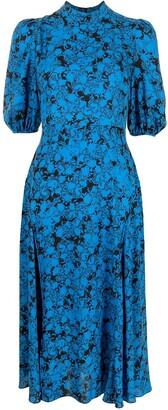 Diane von Furstenberg Abstract Print Midi Dress