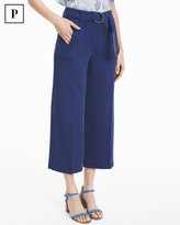 White House Black Market Petite Wide-Leg Crop Pants