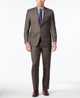 Lauren Ralph Lauren Classic-Fit Light Brown Glen Plaid Ultraflex Suit
