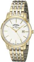 Rotary Men's gb90079/03 Analog Display Swiss Quartz Two Tone Watch