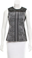 Reed Krakoff Mesh-Accented Sleeveless Top