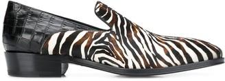 Giuseppe Zanotti Zebra Print Loafers