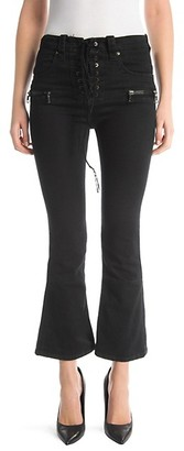 Unravel Project Lace-Up Kick Flare Jeans